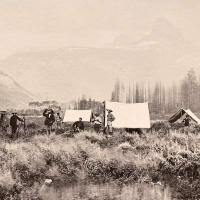 Camp at the Mouth of the Teton Canyon, Yellowstone 1873