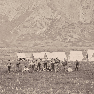 Camp of the USGS at Ogden, Utah, Yellowstone 1873