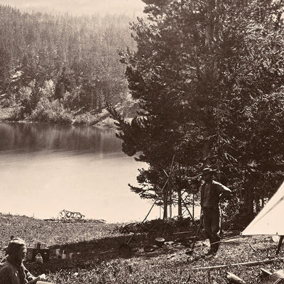 Camp on Mystic Lake, Yellowstone 1873