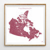 Hydrological Map of Canada in Red