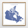 Hydrological Map of Canada in Blue