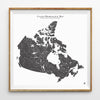 Hydrological Map of Canada in Black