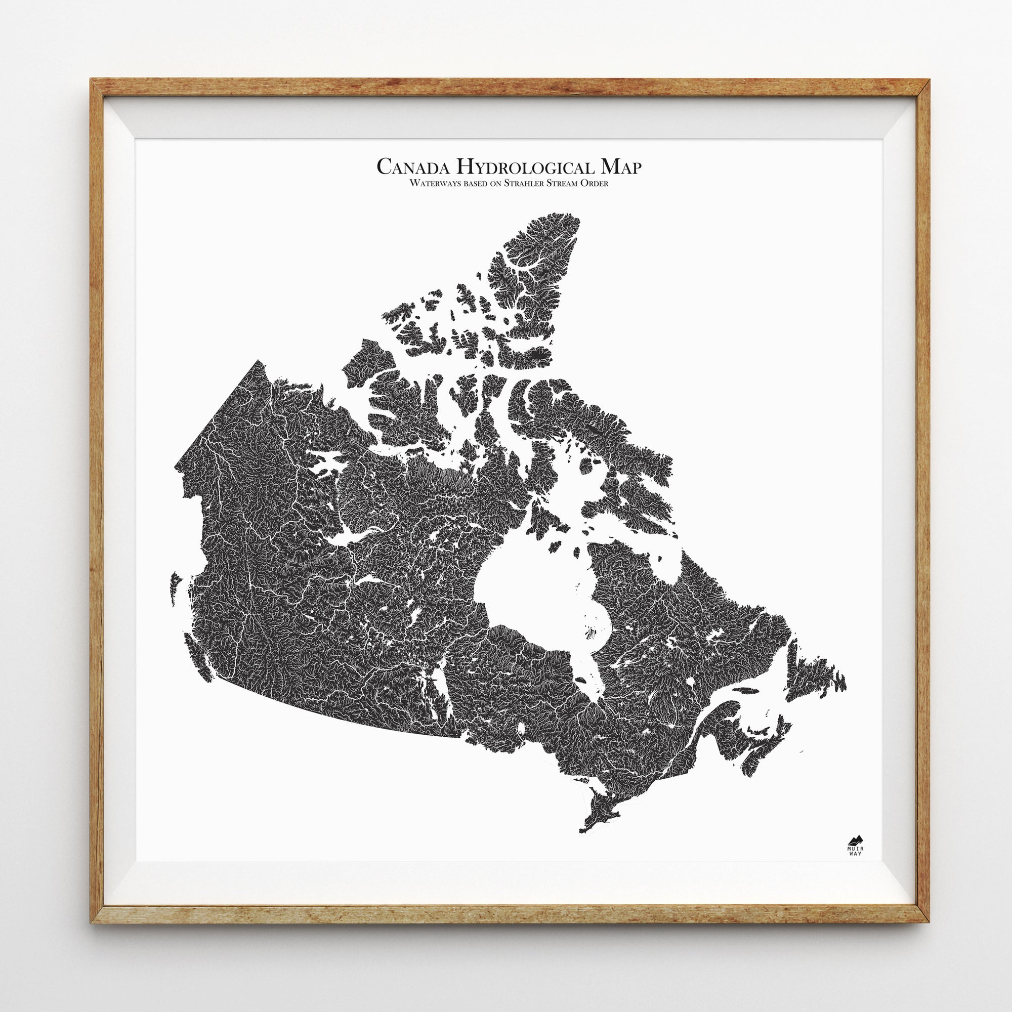 Map Of Canafa Hydrological Map of Canada   Muir Way