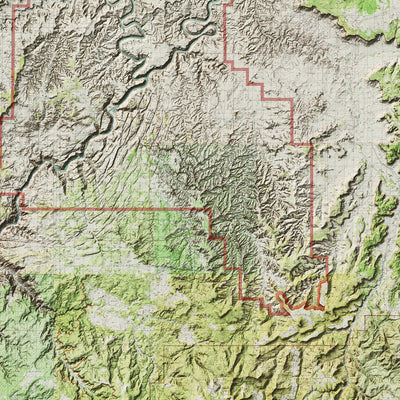 Canyonlands Relief Map