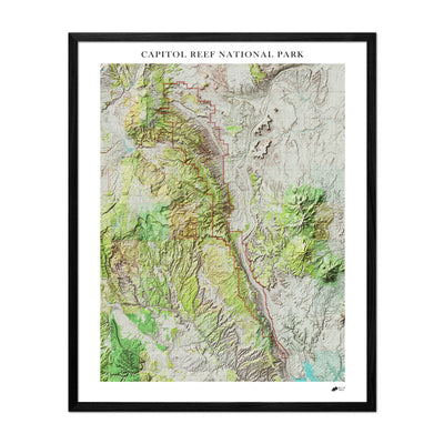 Relief Map of Capitol Reef National Park