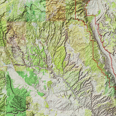 Capitol Reef Relief Map