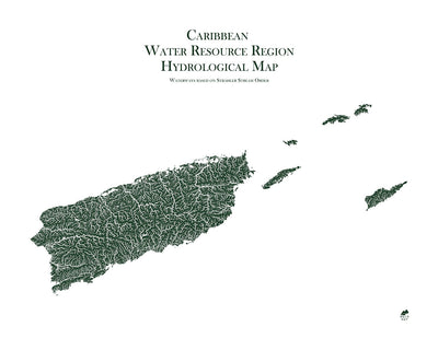 Caribbean Regional Hydrological Map