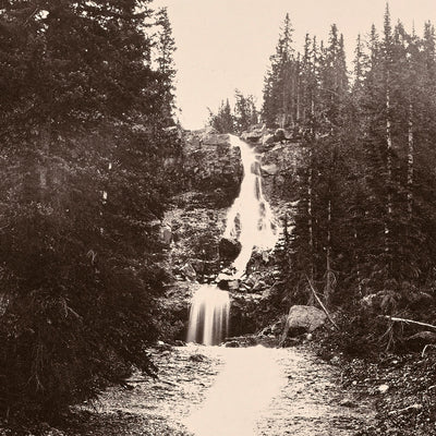 Cascade from Mount Blackmore, Yellowstone 1873