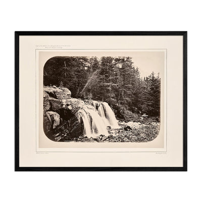 Cascade from Mount Blackmore No. 2, Yellowstone 1873