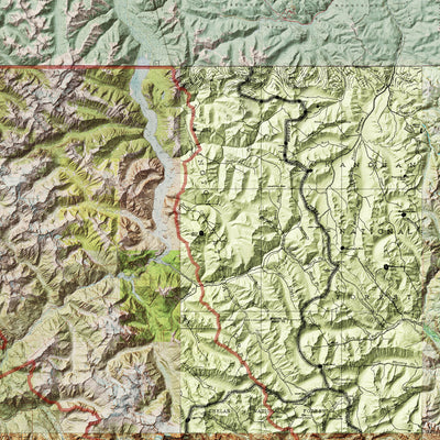 North Cascades Relief Map
