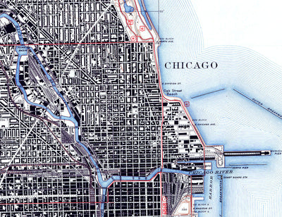 Chicago, IL 1939 USGS Map