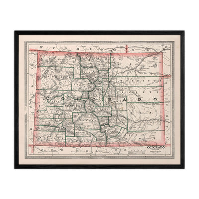 Colorado 1883 Map