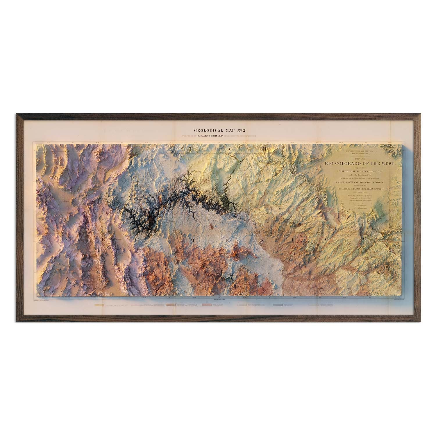 Colorado River 1858 Relief Map