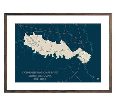 Congaree National Park Map