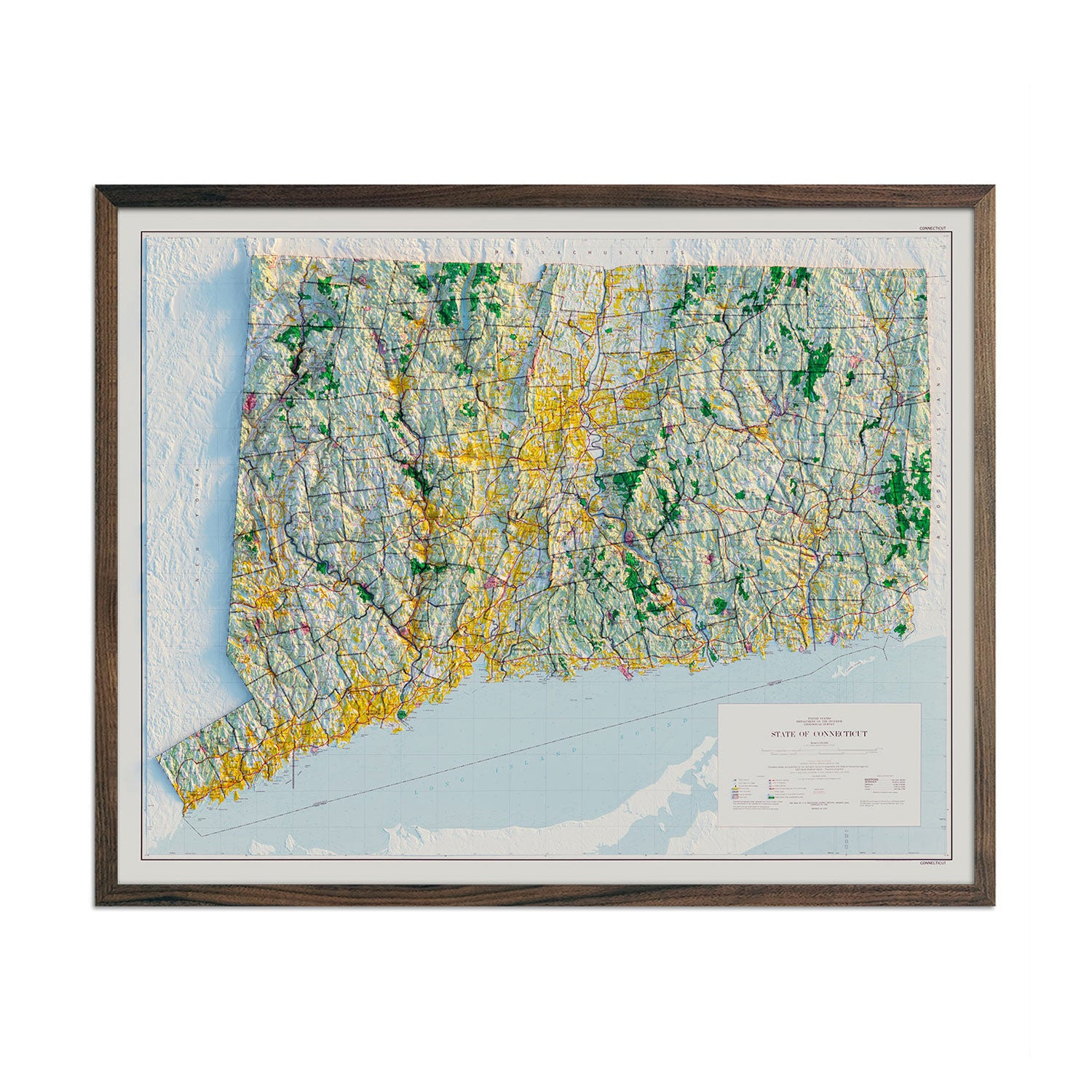 Connecticut 1974 Relief Map