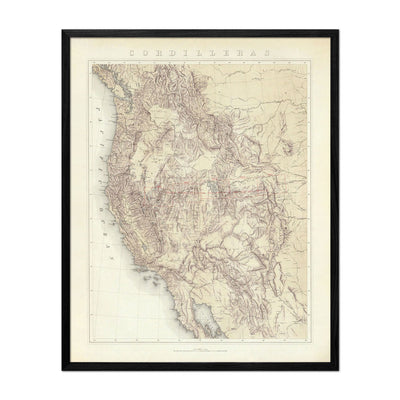 Cordilleras 1876 Topographic Map