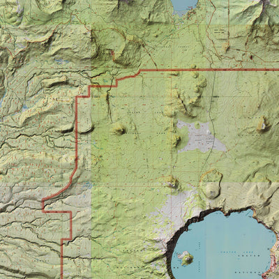Crater Lake Relief Map
