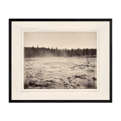 Crater of the Architectural Geyser, Lower Basin, Yellowstone 1873