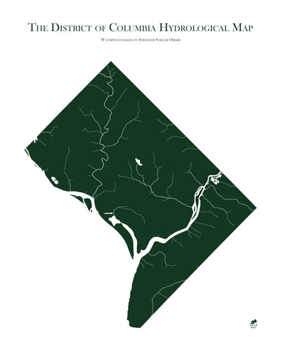 Washington DC Rivers Map