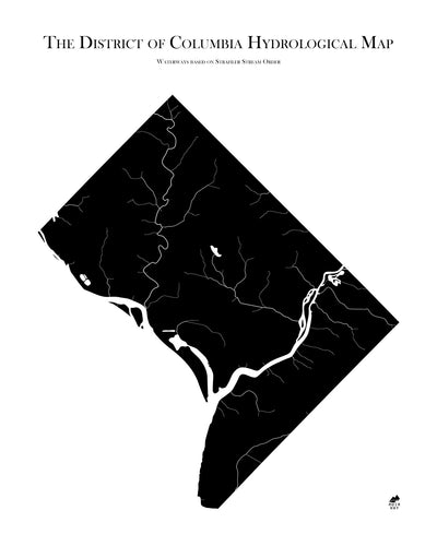 Washington DC Hydrological Map