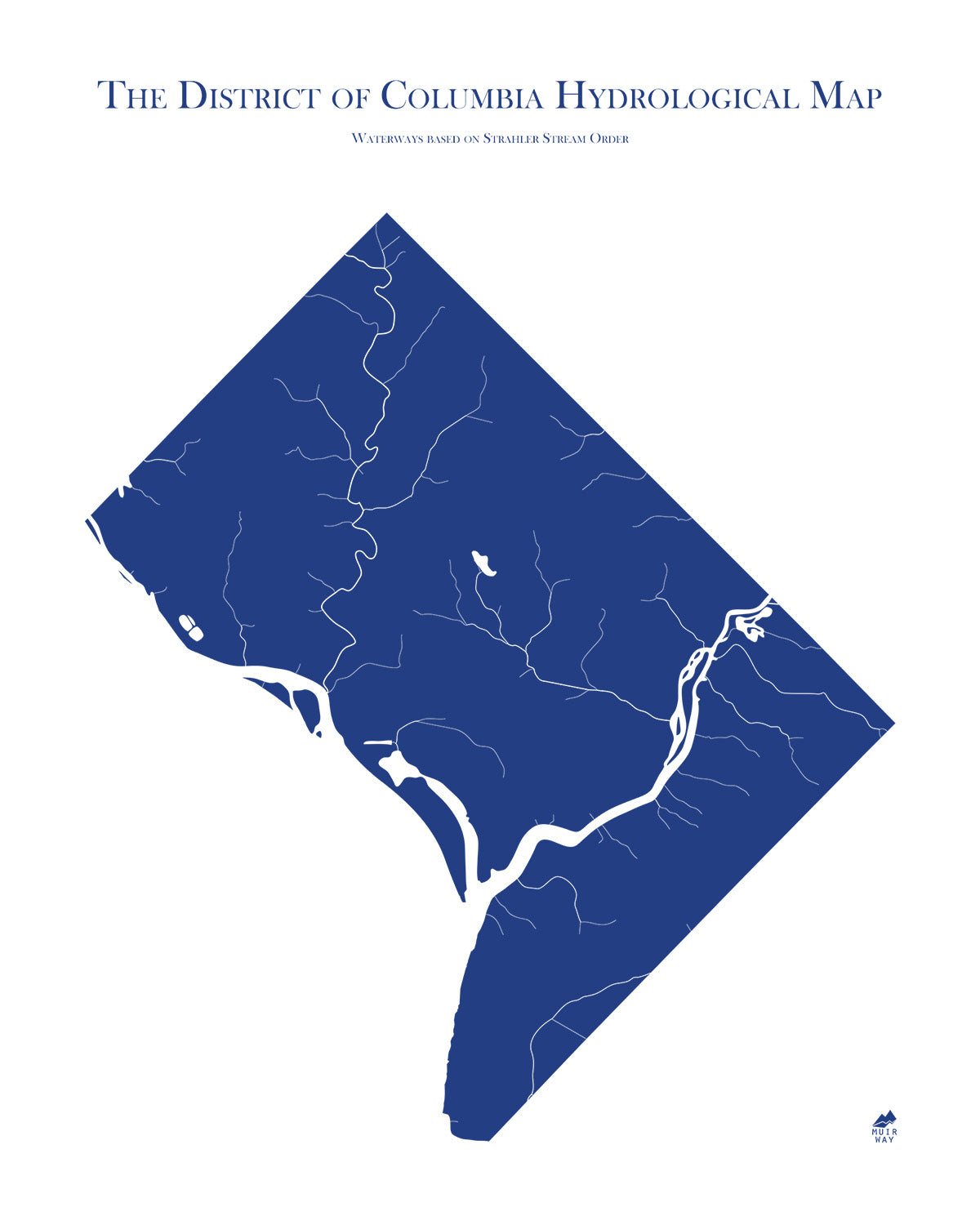District of Columbia Hydrology Series Map - Muir Way