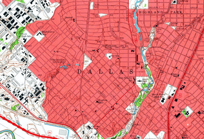 Dallas, TX 1958 USGS Map