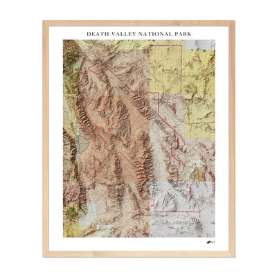 Relief Map of Death Valley National Park