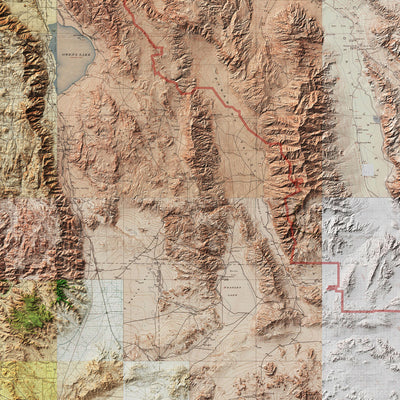 Death Valley Relief Map