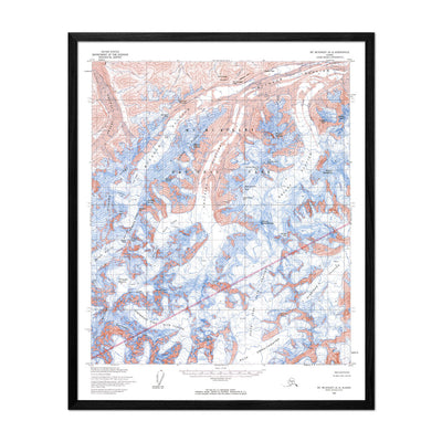 Denali National Park 1954 USGS Map