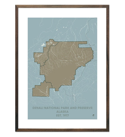 Denali National Park and Preserve Map