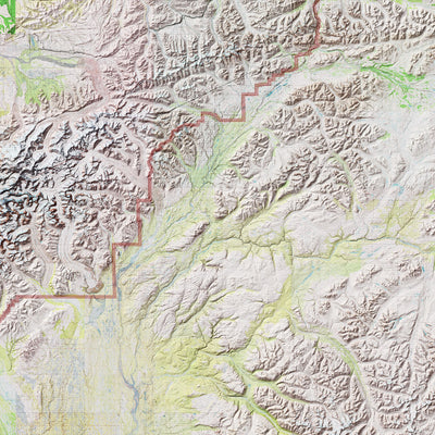 Denali Relief Map