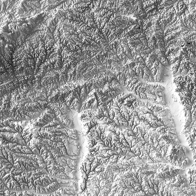 Georgia Elevation Map