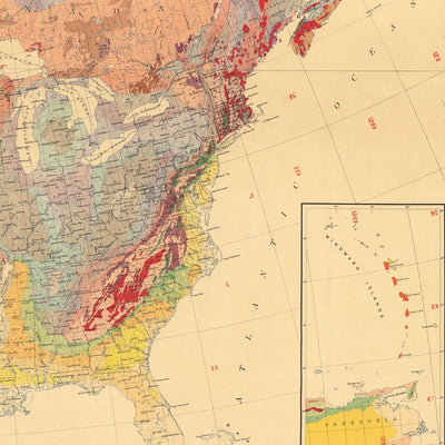 North America Geologic Map 1911
