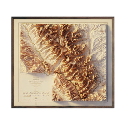 Glacier 1915 Relief Map