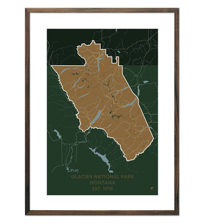 Glacier National Park Map