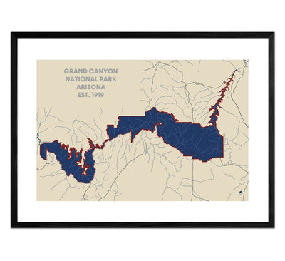 Grand Canyon National Park Map