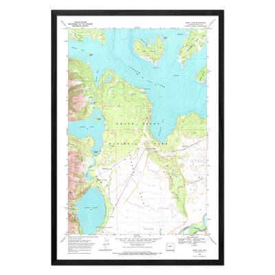 Grand Teton National Park 1972 USGS Map