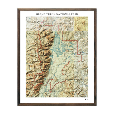 Relief Map of Grand Teton National Park