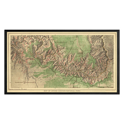 Grand Canyon National Park 1926 Map