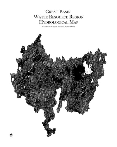 Great Basin Regional Hydrological Map