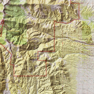 Great Basin Relief Map