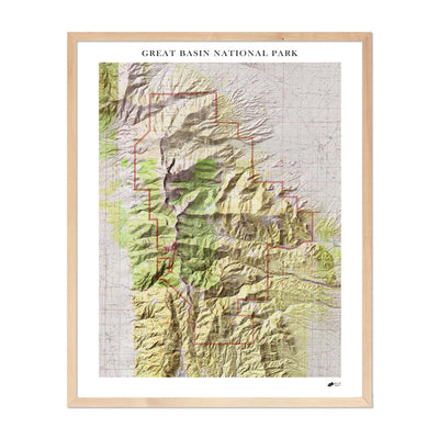 Relief Map of Great Basin National Park