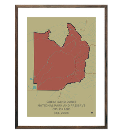 Great Sand Dunes National Park and Preserve Map