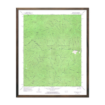 Great Smoky Mountains National Park 1964 USGS Map