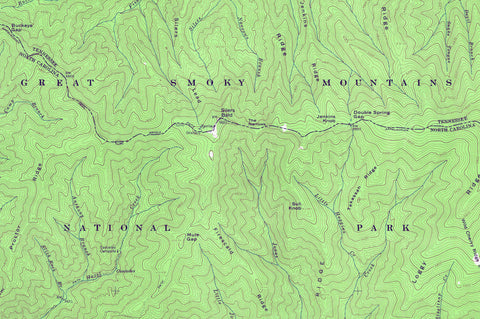 Great Smoky Mountains National Park 1964 USGS Map - Muir Way on map of the ozarks, map of great smoky mountains in tennessee, map of the grand canyon, map of the sequoia national park, map of the cumberland plateau, map of the adirondack park, map of the university of virginia, map of the smoky mtns,