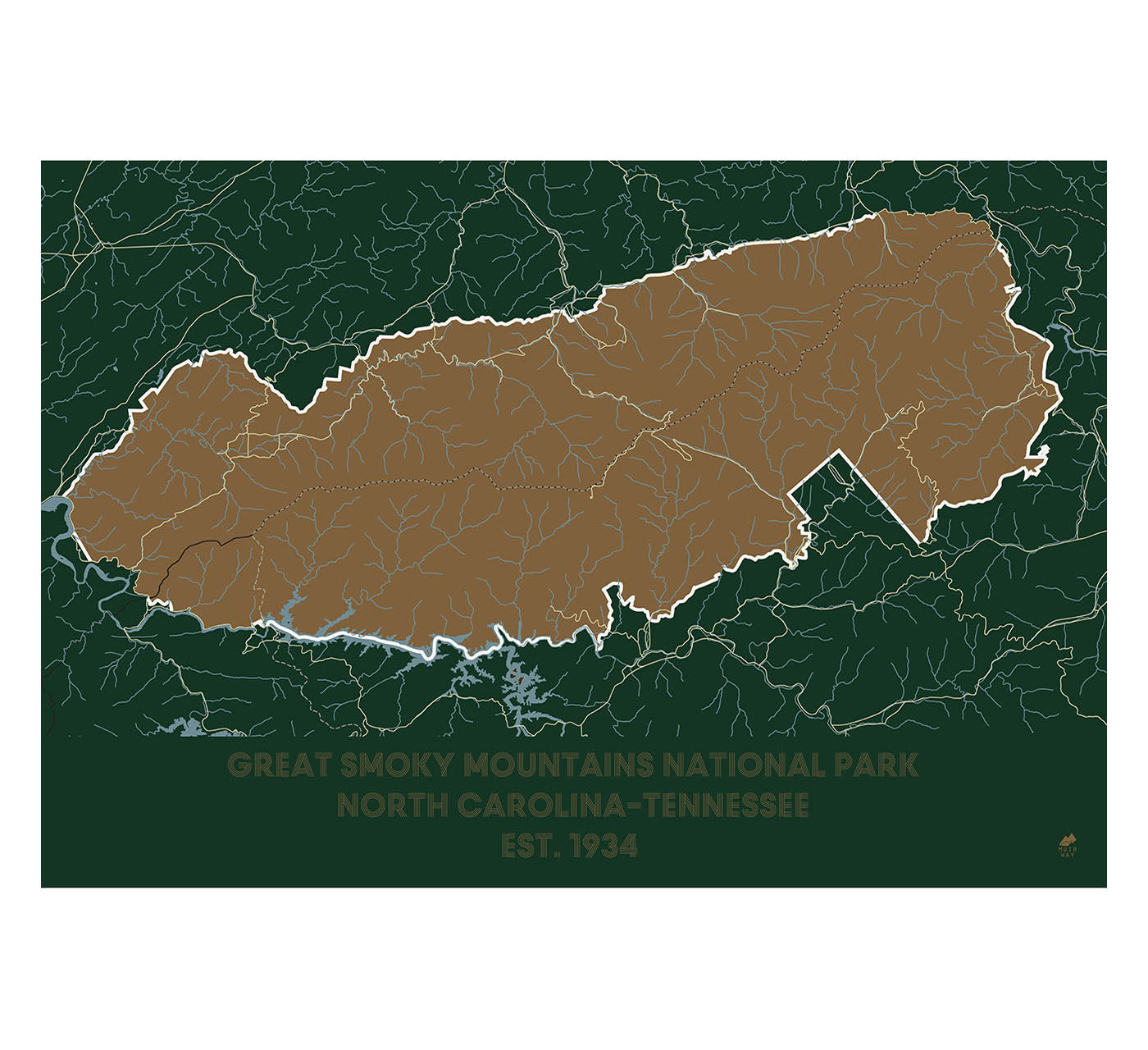 Original National Park Posters: Great Smoky Mountains National Park Poster
