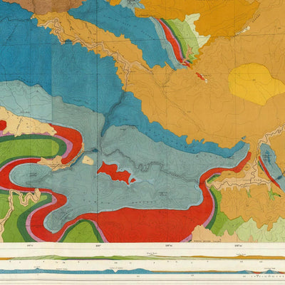 Green River Basin 1876 Geological Map