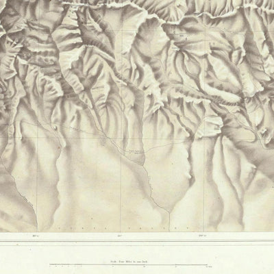Green River Basin 1876 Topographic Map