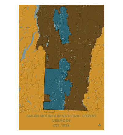 Green Mountain National Forest Map