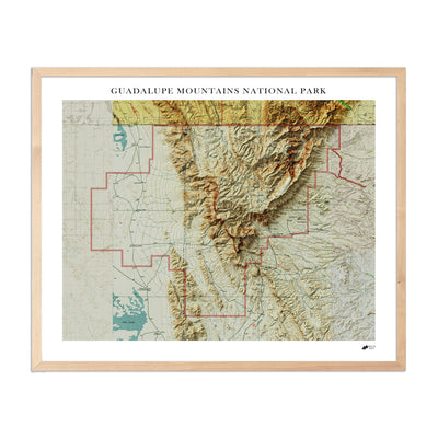 Relief Map of Guadalupe Mountains National Park